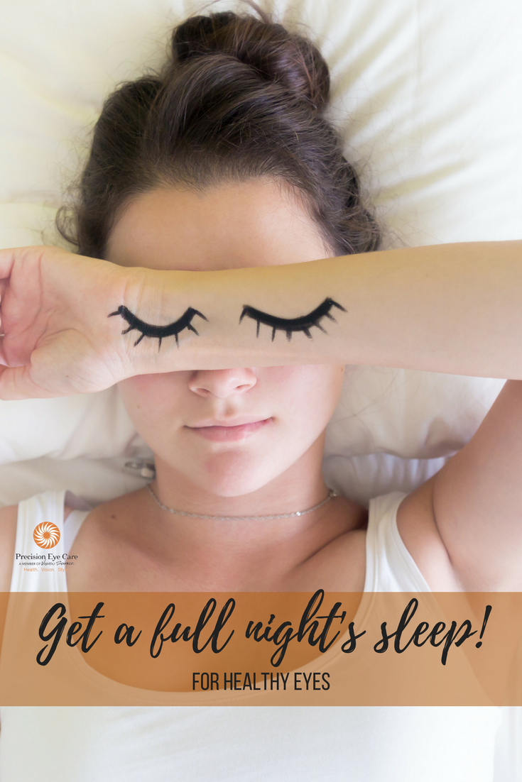Get a full night's sleep for healthy eyes